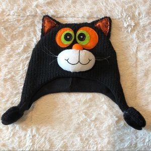 Halloween black cat baby hat